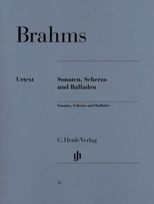BRAHMS - Sonatas, Scherzo and Ballads - Sheet Music - di-arezzo.co.uk
