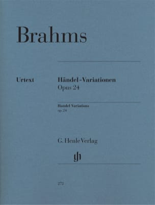 BRAHMS - Variations and Fugue on a Theme by Handel Opus 24 - Sheet Music - di-arezzo.com