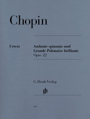 CHOPIN - Andante spianato and brilliant Polonaise in E flat major, Opus 22 - Sheet Music - di-arezzo.com