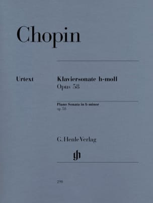 CHOPIN - Sonata for piano in B minor op. 58 - Sheet Music - di-arezzo.co.uk
