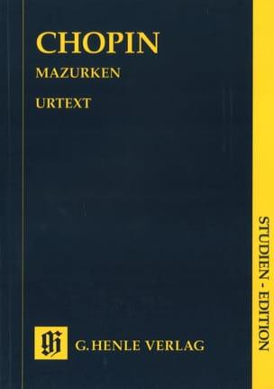 Mazurkas CHOPIN Partition Petit format - laflutedepan