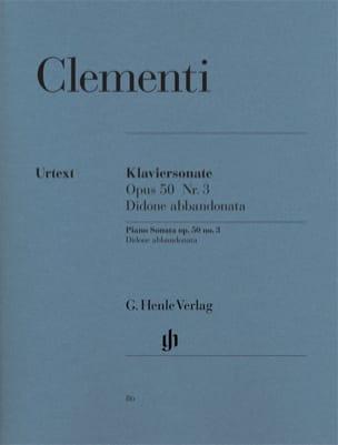 Muzio Clementi - Sonate pour piano Didone abbandonata Opus 50-3 - Partition - di-arezzo.fr