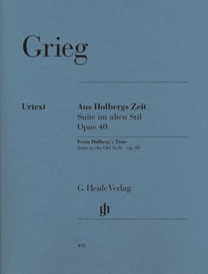 Edward Grieg - Suite Holberg Opus 40, Suite In Old Style - Sheet Music - di-arezzo.co.uk