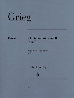 Edward Grieg - Piano Sonata in E Minor Opus 7 - Sheet Music - di-arezzo.co.uk