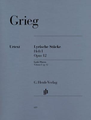 Lyrische Stücke Heft 1 Opus 12 GRIEG Partition Piano - laflutedepan
