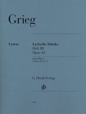 Edward Grieg - Lyrische Stücke Heft 3 Opus 43 - Sheet Music - di-arezzo.co.uk