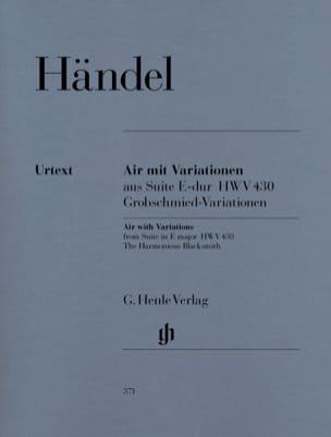 Air et Variations l'Harmonieux forgeron - HAENDEL - laflutedepan.com