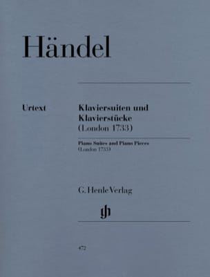 HAENDEL - Piano Suites and Rooms London 1733 - Partition - di-arezzo.co.uk
