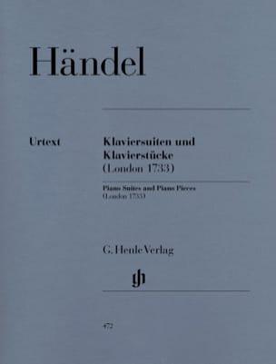 HAENDEL - Piano Suites and Rooms London 1733 - Sheet Music - di-arezzo.co.uk