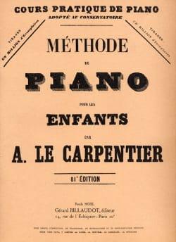 Carpentier A Le - Méthode de Piano Pour les Enfants - Partition - di-arezzo.fr