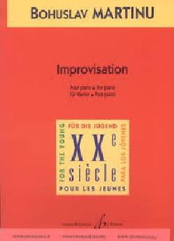 Improvisation - Bohuslav Martinu - Partition - laflutedepan.com