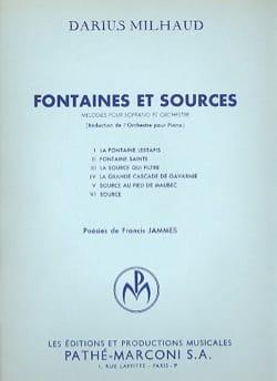 Fontaines Et Sources - Darius Milhaud - Partition - laflutedepan.com