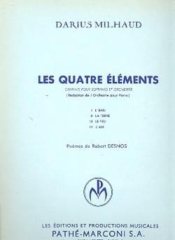 Les 4 Eléments - Darius Milhaud - Partition - laflutedepan.com