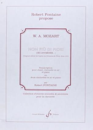 MOZART - Non Piu Di Fiori. Clemenza Di Tito - Partition - di-arezzo.fr
