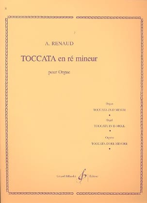 Albert Renaud - Toccata En Ré Mineur Opus 108-1 - Partition - di-arezzo.fr