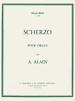 Scherzo Albert Alain Partition Orgue - laflutedepan