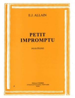 Petit Impromptu Edmée. J Allain Partition Piano - laflutedepan