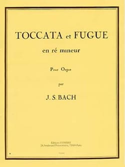 Toccata et Fugue En Ré Mineur Grand Orgue. BACH Partition laflutedepan