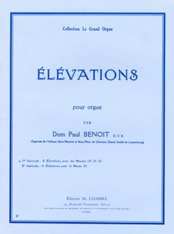 Elevations Volume 1 - Dom Paul Benoit - Partition - laflutedepan.com