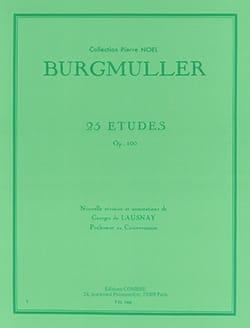 Frédéric Burgmuller - Etudes Opus 100 - Partition - di-arezzo.fr