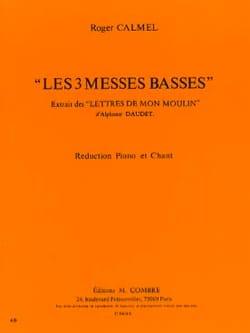 Les 3 Messes Basses Roger Calmel Partition Chœur - laflutedepan