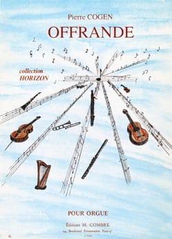 Offrande - Pierre Cogen - Partition - Orgue - laflutedepan.com