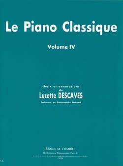Le Piano Classique Volume 4 Lucette Descaves Partition laflutedepan