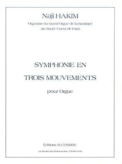 Naji Hakim - Symphonie En 3 Mouvements - Partition - di-arezzo.fr