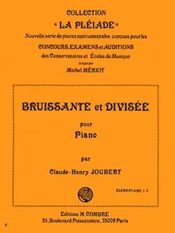 Bruissante et Divisée Claude-Henry Joubert Partition laflutedepan