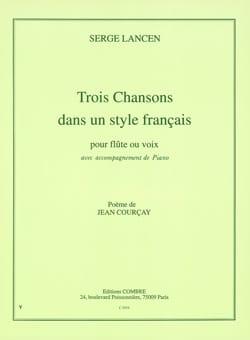 3 Chansons Dans un Style Francais - S Lancen - laflutedepan.com
