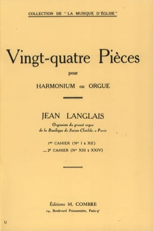 Jean Langlais - 24 Pieces Opus 6. 2nd workbook - Sheet Music - di-arezzo.com