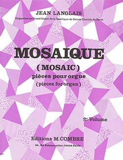 Jean Langlais - Mosaic Volume 2 Opus 191 - Sheet Music - di-arezzo.co.uk
