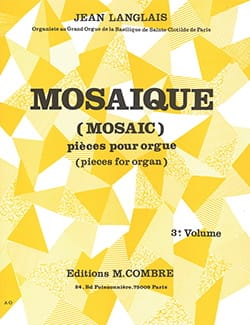 Jean Langlais - Mosaic Volume 3 Opus 196 - Sheet Music - di-arezzo.co.uk