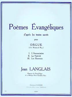 Poèmes Evangéliques Opus 2 Jean Langlais Partition laflutedepan
