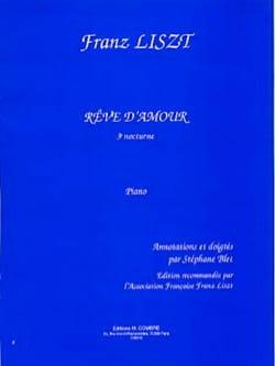 Rêve D'amour. 3ème Nocturne Franz Liszt Partition Piano - laflutedepan
