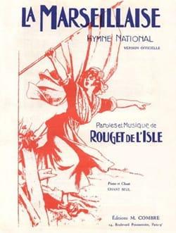 La Marseillaise. de Lisle Rouget Partition Chœur - laflutedepan