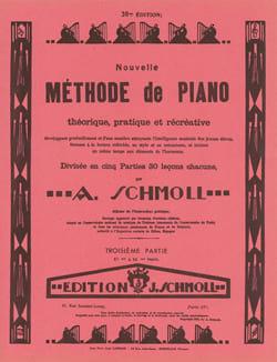 Nouvelle Méthode De Piano Volume 3 - Anton Schmoll - laflutedepan.com