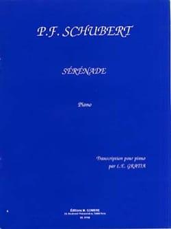 Sérénade D 957 SCHUBERT Partition Piano - laflutedepan