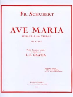 SCHUBERT - Ave Maria No. 2 Opus 52-6. Average voice - Partition - di-arezzo.co.uk