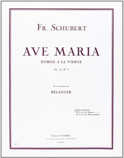 SCHUBERT - Ave Maria Opus 52-6. Aloud - Sheet Music - di-arezzo.com