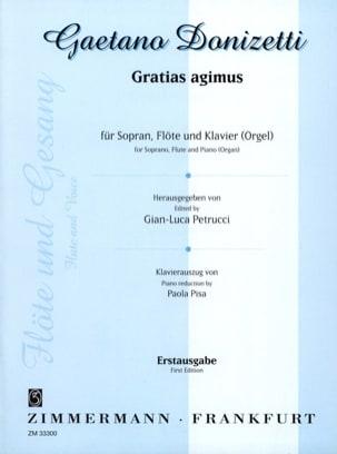 Gratias agimus - Gaetano Donizetti - Partition - laflutedepan.com