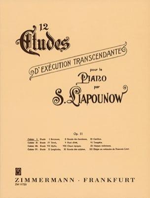Sergej Liapounov - 12 Etudes D'exécution Transcendantes Opus 11. Volume 1 - Partition - di-arezzo.fr