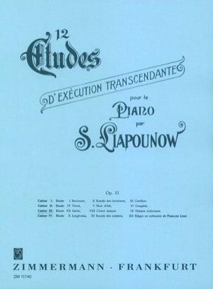 Sergej Liapounov - 12 Etudes D'exécution Transcendantes Opus 11. Volume 3 - Partition - di-arezzo.fr