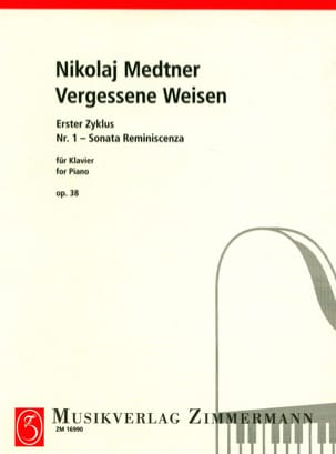 Nicolai Medtner - Sonata Reminascenza Opus 38-1 - Sheet Music - di-arezzo.co.uk