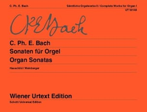 Sonaten Für Orgel - Carl-Philipp Emanuel Bach - laflutedepan.com