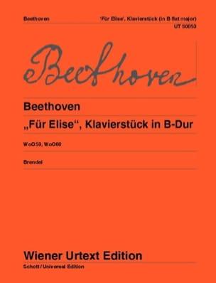 Für Elise Woo 59 / Klavierstück Woo 60 - BEETHOVEN - laflutedepan.com