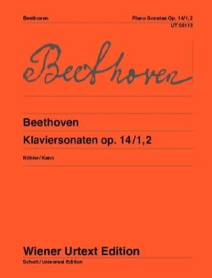 Sonates Pour Piano N° 9 et N° 10 op. 14 - BEETHOVEN - laflutedepan.com