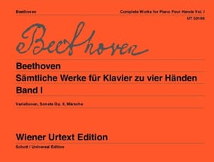 Oeuvres Pour Piano 4 Mains Volume 1 BEETHOVEN Partition laflutedepan