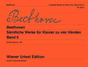 Oeuvres Pour Piano 4 Mains Volume 2 - BEETHOVEN - laflutedepan.com