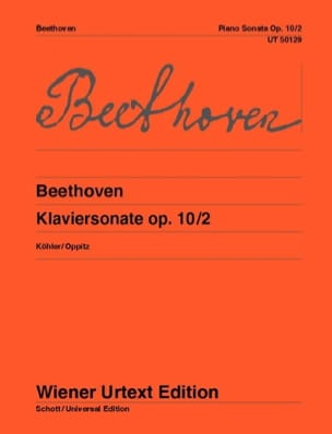 Sonate Pour Piano n° 6 Fa Majeur, Opus 10-2 BEETHOVEN laflutedepan